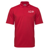Red Mini Stripe Polo-Greek Letters