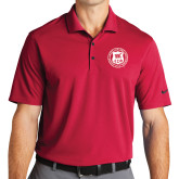 Nike Golf Dri Fit Red Micro Pique Polo-Seal
