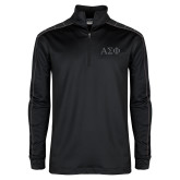 Nike Golf Dri Fit 1/2 Zip Black/Grey Pullover-Greek Letters Tone