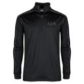 Nike Golf Dri Fit 1/2 Zip Black/Grey Pullover-Greek Letters Tone