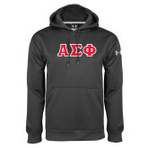 Under Armour Carbon Performance Sweats Team Hoodie-Greek Letters Tackle Twill, Tackle Twill