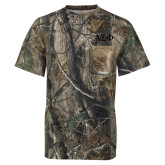Realtree Camo T Shirt w/Pocket-Greek Letters Tone