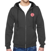 Charcoal Fleece Full Zip Hoodie-Seal