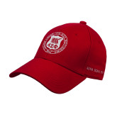 Red Heavyweight Twill Pro Style Hat-Seal