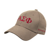Khaki Heavyweight Twill Pro Style Hat-Greek Letters