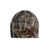 Mossy Oak Camo Fleece Beanie-Greek Letters Tone
