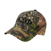 Mossy Oak Camo Structured Cap-Greek Letters Tone