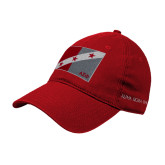 Red Twill Unstructured Low Profile Hat-Fraternity Flag
