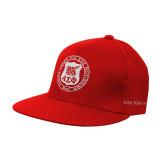 Red OttoFlex Flat Bill Pro Style Hat-Seal