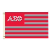 3 ft x 5 ft Flag-Greek Letters & Stripes Flag