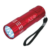 Industrial Triple LED Red Flashlight-Greek Letters Engraved