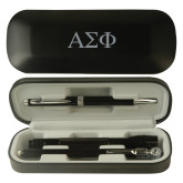 Black Roadster Gift Set-Greek Letters Engraved