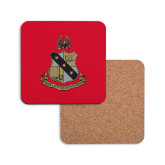 Hardboard Coaster w/Cork Backing-Coat of Arms