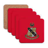 Hardboard Coaster w/Cork Backing 4/set-Coat of Arms