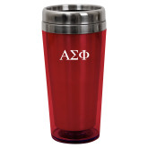 Solano Acrylic Red Tumbler 16oz-Greek Letters