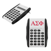 White Flip Cover Calculator-Greek Letters