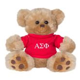 Plush Big Paw 8 1/2 inch Brown Bear w/Red Shirt-Greek Letters