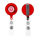 Red Retractable Badge Holder-Seal