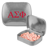 Silver Rectangular Peppermint Tin-Greek Letters