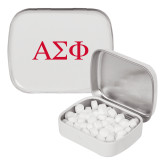 White Rectangular Peppermint Tin-Greek Letters