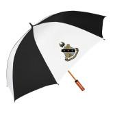 62 Inch Black/White Umbrella-Coat of Arms