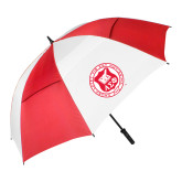 62 Inch Red/White Vented Umbrella-Seal