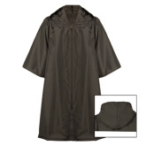 Black Hooded Ritual Robe-