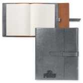 Fabrizio Grey Portfolio w/Loop Closure-Official Logo Engraved