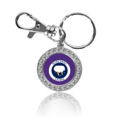 Crystal Studded Round Key Chain-Marching Storm Cloud Circle