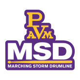 Medium Decal-MSD w/ PVAM Logo, 8 inches tall