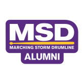 Medium Decal-MSD Alumni, 8 inches wide