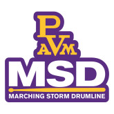 Large Decal-MSD w/ PVAM Logo, 12 inches tall