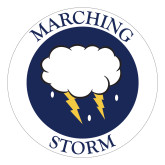 Large Decal-Marching Storm Cloud Circle, 12 inches wide