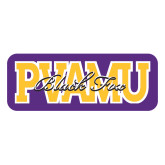 Large Decal-PVAMU Black Fox Overlap, 12 inches wide