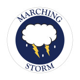 Small Decal-Marching Storm Cloud Circle, 6 inches wide