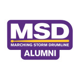 Small Decal-MSD Alumni, 6 inches wide