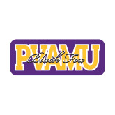Small Decal-PVAMU Black Fox Overlap, 6 inches wide