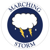 Extra Large Decal-Marching Storm Cloud Circle, 18 inches wide