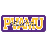 Extra Large Decal-PVAMU Black Fox Overlap, 18 inches wide