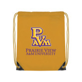 Gold Drawstring Backpack-PVAM Stacked
