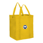 Non Woven Gold Grocery Tote-Marching Storm Cloud Circle