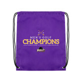 Purple Drawstring Backpack-2018 Mens Golf Champions
