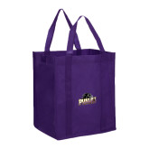 Non Woven Purple Grocery Tote-Official Logo