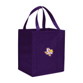 Non Woven Purple Grocery Tote-PVAM Texas