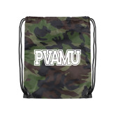 Nylon Camo Drawstring Backpack-PVAMU