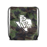 Camo Drawstring Backpack-PVAM Texas