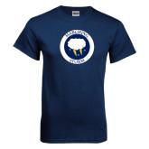 Navy T Shirt-Marching Storm Cloud Circle