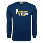 Navy Long Sleeve T Shirt-PV Marching Storm Band