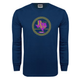 Navy Long Sleeve T Shirt-PVAM Marching Band Seal