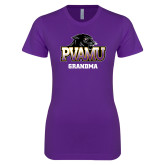 Next Level Ladies SoftStyle Junior Fitted Purple Tee-Grandma